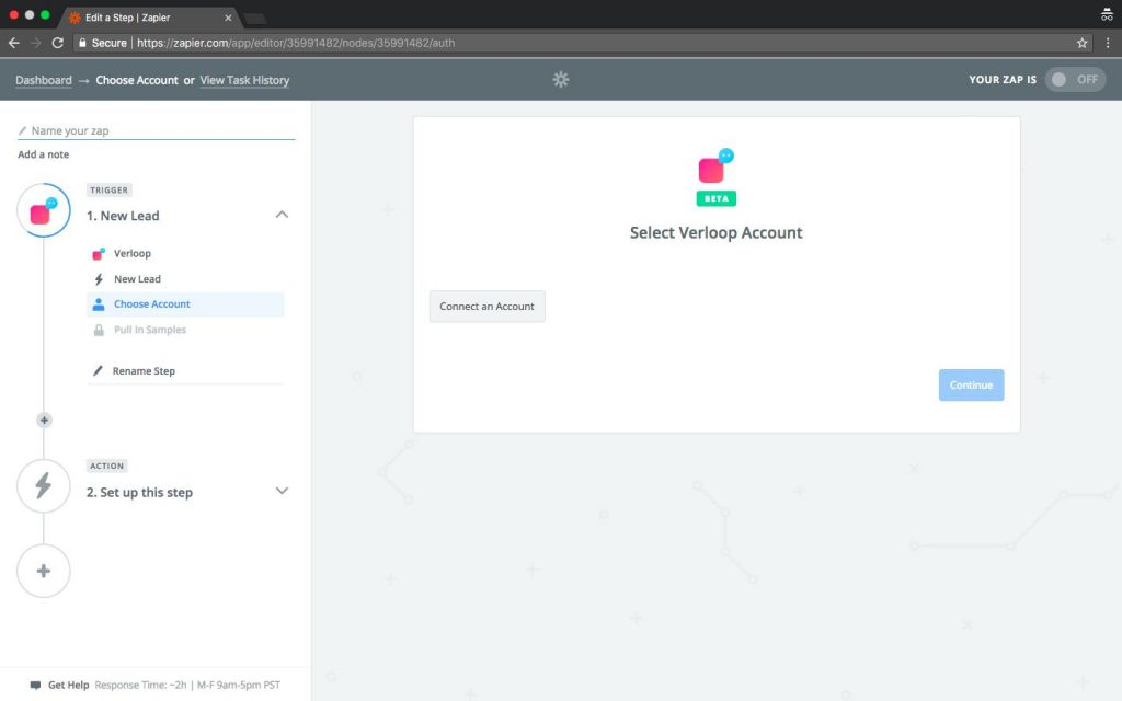 Connect Verloop Account