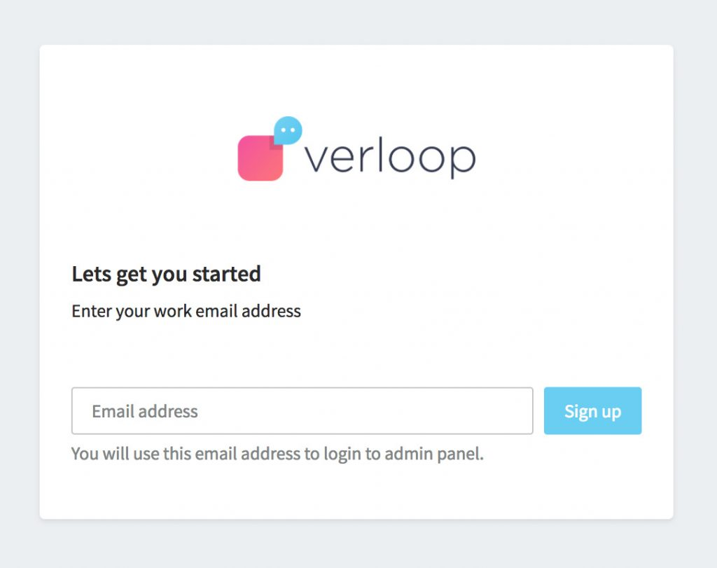 Signup with email