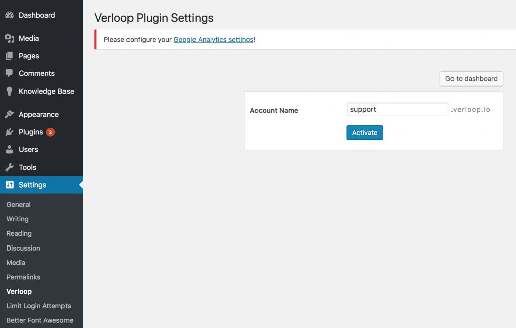 Connect to Verloop Account